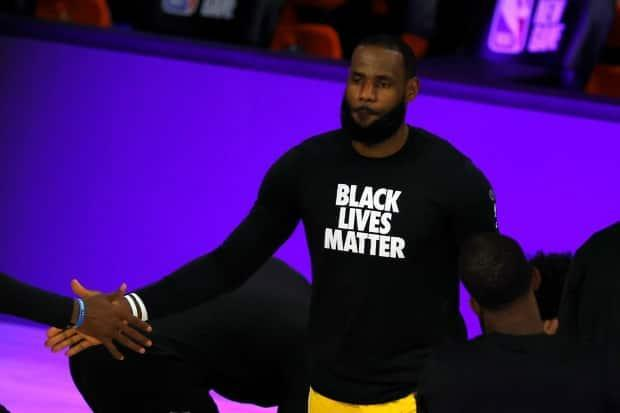 Los Angeles Lakers star LeBron James was among the professional athletes and leagues reacting to the guilty verdict of ex-cop Derek Chauvin in the murder of George Floyd on Tuesday. (Kevin C. Cox/Getty Images - image credit)