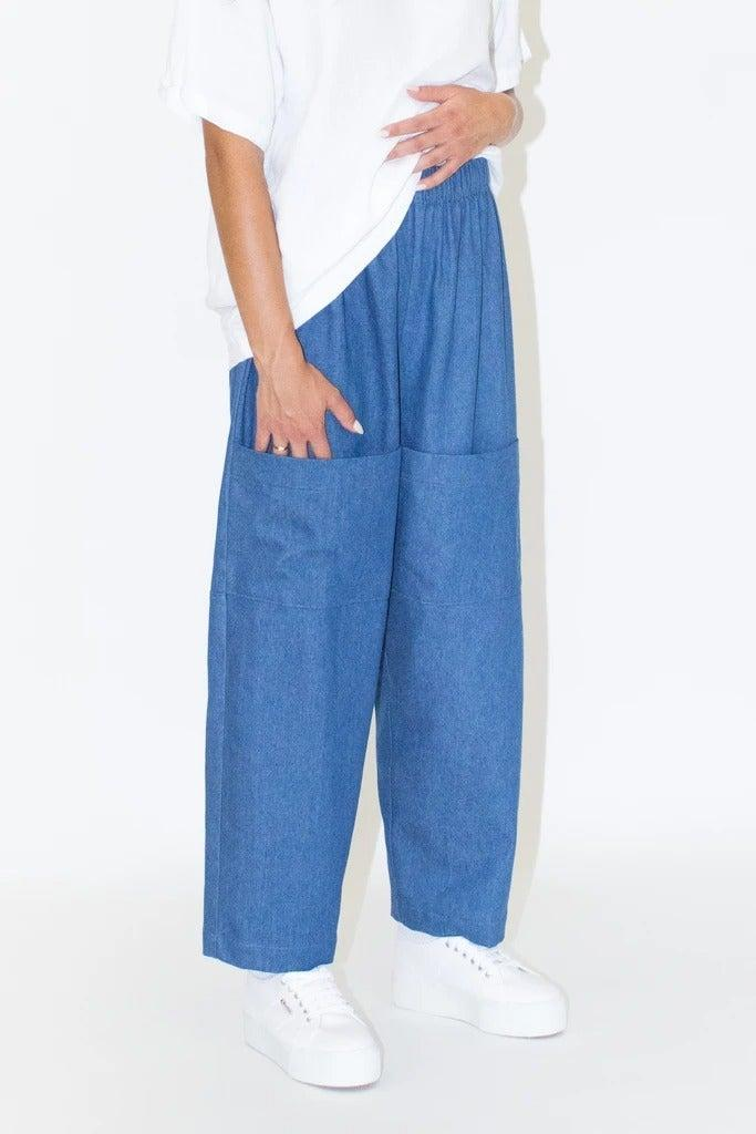 "I've been eyeing these trousers ever since I came across them and now that they're back in stock, I'm definitely tempted. The elasticated waist, roomy fit and giant pockets make these the ideal comfy pant. I would happily trade out my current denim jeans for a pair of these. <br><br><strong>Lloyd Clothing</strong> Pocket Pants Denim, $, available at <a href=""https://www.lloydclothing.com/collections/pants/products/pocket-pants-denim?variant=36297004777621"" rel=""nofollow noopener"" target=""_blank"" data-ylk=""slk:Lloyd Clothing"" class=""link rapid-noclick-resp"">Lloyd Clothing</a>"