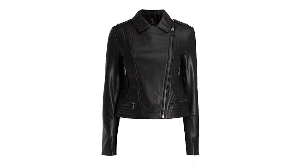 Idda Zip leather biker jacket
