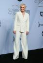 <p>Wearing a Ralph Lauren suit with Giuseppe Zanotti shoes. <em>[Photo: Getty]</em> </p>