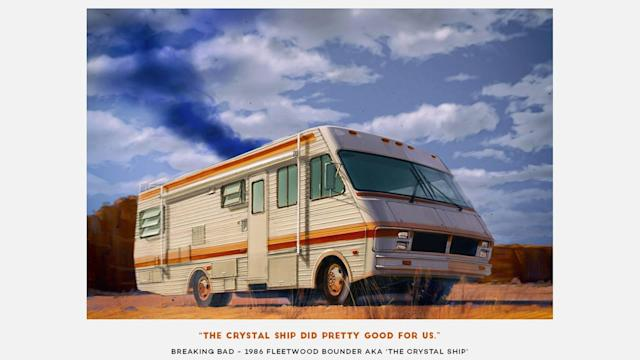 "<p>Of course, who would forget the <span>Crystal Ship</span> from the cult TV show <em>Breaking Bad</em>? This <a href=""https://www.motor1.com/news/71273/stars-of-breaking-bad-arrive-to-premiere-in-rv/"" rel=""nofollow noopener"" target=""_blank"" data-ylk=""slk:1986 Fleetwood Bounder RV camper van"" class=""link rapid-noclick-resp"">1986 Fleetwood Bounder RV camper van</a> was the start of the everything, bad or good, that has happened to Walter White and Jesse Pinkman. It was a great run for the camper van, until Walter destroyed it to keep it out of the DEA's hands.</p>"