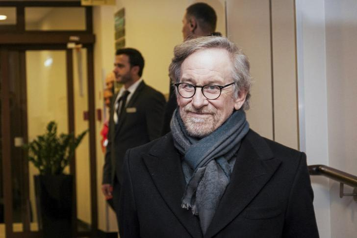"""Direcor Steven Spielberg arrives for a meeting the """"Past is Present Survivor Gathering"""" in Krakow"""