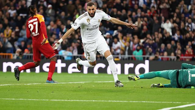 After reaching 50 Champions League goals for Real Madrid, Karim Benzema played down talk he was a legend.