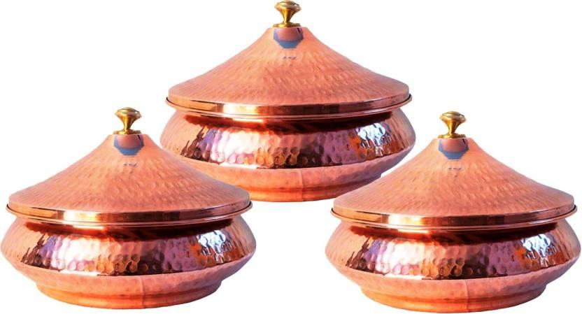 """Indian Craft Villa Induction Bottom Cookware Set (Copper, Steel, 3 - Piece) - 41% off at <a href=""""https://fave.co/341eXHk"""" rel=""""nofollow noopener"""" target=""""_blank"""" data-ylk=""""slk:₹2,304. BUY NOW!"""" class=""""link rapid-noclick-resp""""><strong>₹2,304. BUY NOW!</strong></a>"""