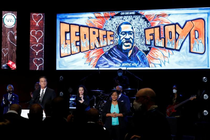 Memorial service for George Floyd following his death in Minneapolis police custody, in Minneapolis