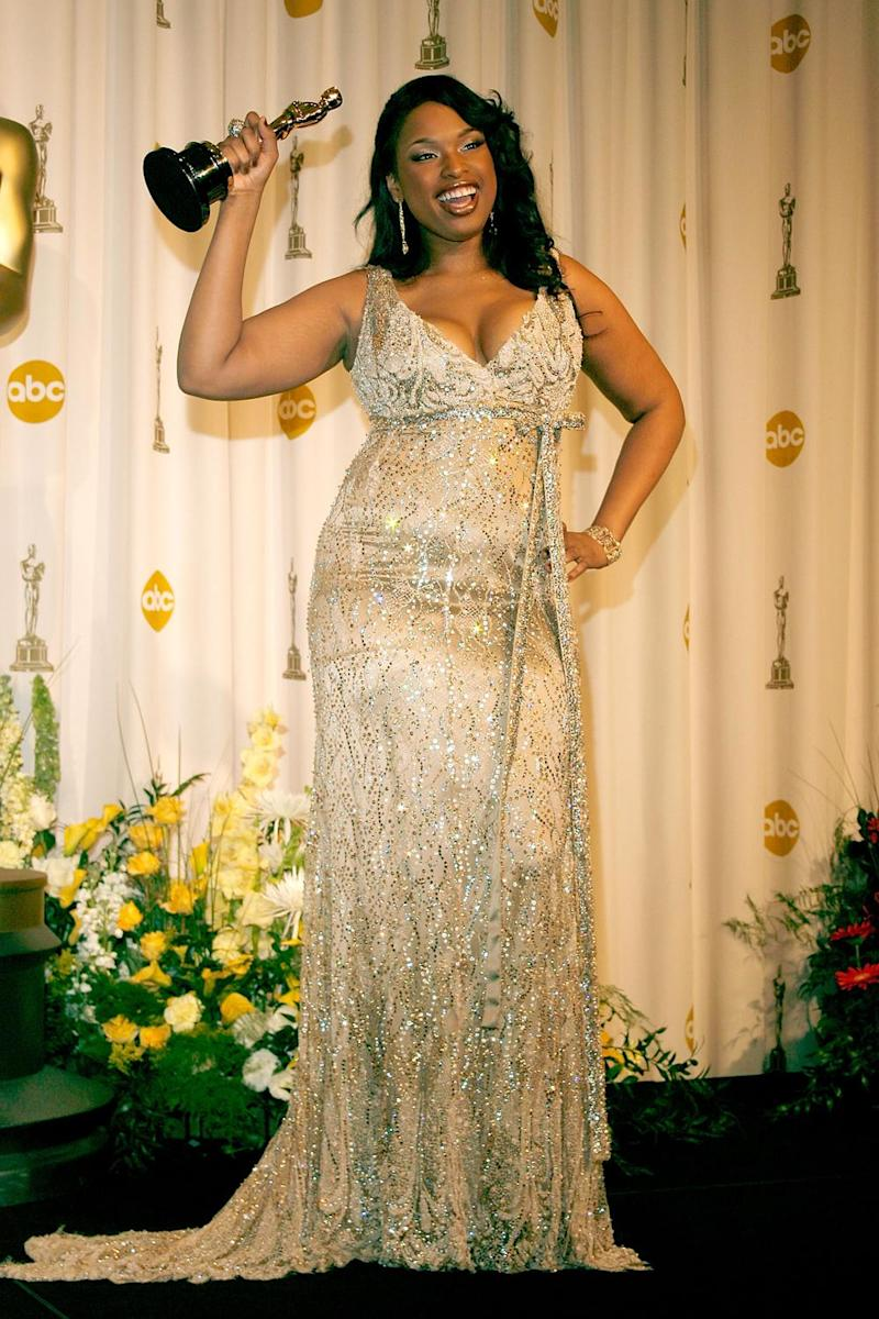 Oscar winner: Jennifer Hudson with her Best Supporting Oscar for Dream Girls in 2007 (Vince Bucci/Getty)