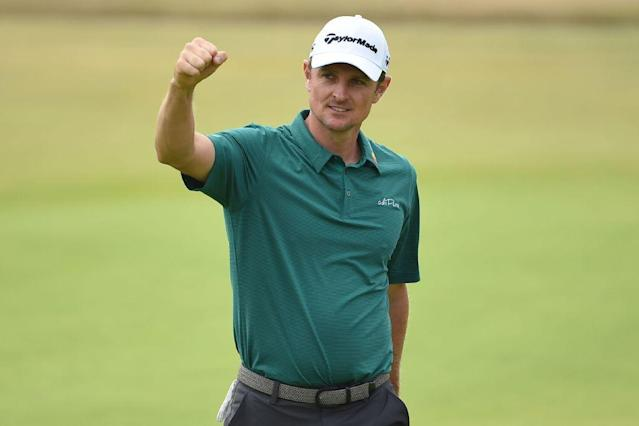 "Why is <a class=""link rapid-noclick-resp"" href=""/pga/players/1038/"" data-ylk=""slk:Justin Rose"">Justin Rose</a> smiling? Because he just torched Carnoustie. (Getty)"
