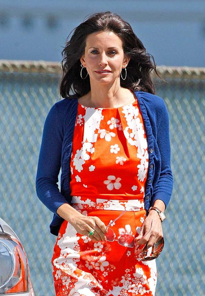 """Courteney Cox Arquette's character on """"Cougar Town"""" is red, white, and blue all over! <a href=""""http://www.infdaily.com"""" target=""""new"""">INFDaily.com</a> - March 27, 2009"""