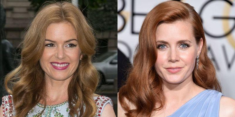 """<p>It's not just their gorgeous red hair that has us seeing double with these two actors.</p><p> Despite a difference in eye colour, the Arrival and Bachelorette actors often get mistaken for each other. Fisher joked about the duo's striking resemblance in a 2009 Allure<a href=""""https://www.allure.com/gallery/isla-fisher"""" rel=""""nofollow noopener"""" target=""""_blank"""" data-ylk=""""slk:cover story"""" class=""""link rapid-noclick-resp""""> cover story</a>, stating that if her film Shopaholic 'is a hit, then it was Isla Fisher in the movie ... and if it doesn't work out, it was Amy Adams.' </p><p>Fisher also used a photo of Adams<a href=""""https://www.vulture.com/2016/11/isla-fishers-holiday-cards-featured-amy-adams.html"""" rel=""""nofollow noopener"""" target=""""_blank"""" data-ylk=""""slk:in her Christmas card"""" class=""""link rapid-noclick-resp""""> in her Christmas card </a>in 2016, successfully fooling both family and friends.</p>"""