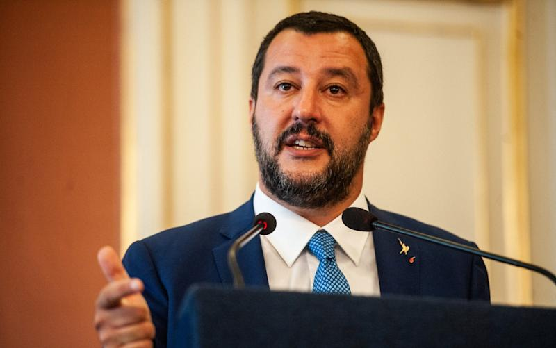 Matteo Salvini has threatened to close Italy's airports to prevent the repatriation of migrants from Germany - Getty Images Europe
