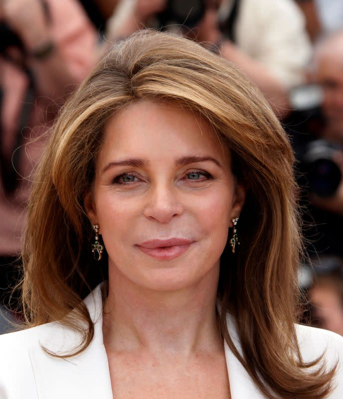 "FILE PHOTO: Queen Al Hussein of Jordan poses during a photocall for the film ""Countdown to zero"" at the 63rd Cannes Film Festival"