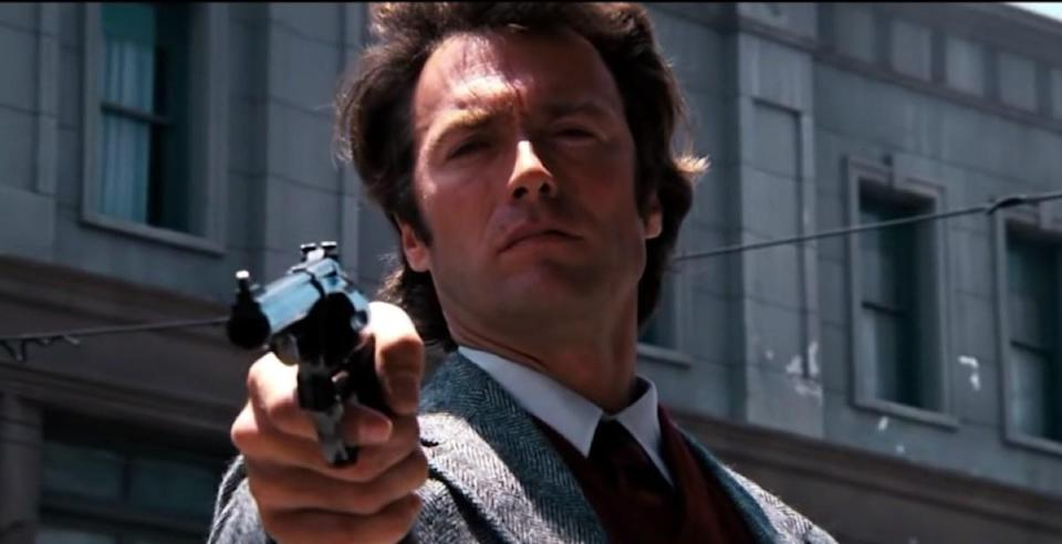 """It's such a fun line to say. Whenever you want to sound threatening, in a <strong>Clint Eastwood</strong> as Dirty Harry kinda way, <a href=""""https://www.youtube.com/watch?v=38mE6ba3qj8"""" rel=""""nofollow noopener"""" target=""""_blank"""" data-ylk=""""slk:this is the quote"""" class=""""link rapid-noclick-resp"""">this is the quote</a> to turn to. Ah, if only it was accurate. That's not exactly what Dirty Harry says when he confronts some bad guys with a .44 Magnum. What he really says is, """"You've got to ask yourself one question: 'Do I feel lucky?' Well, do ya, punk?"""" You have to admit, even though it involves a few more words, that's a <em>much </em>cooler quote. For more, check out <a href=""""https://bestlifeonline.com/movie-quotes-70s/?utm_source=yahoo-news&utm_medium=feed&utm_campaign=yahoo-feed"""" rel=""""nofollow noopener"""" target=""""_blank"""" data-ylk=""""slk:30 Movie Quotes Every '70s Kid Knows by Heart"""" class=""""link rapid-noclick-resp"""">30 Movie Quotes Every '70s Kid Knows by Heart</a>."""