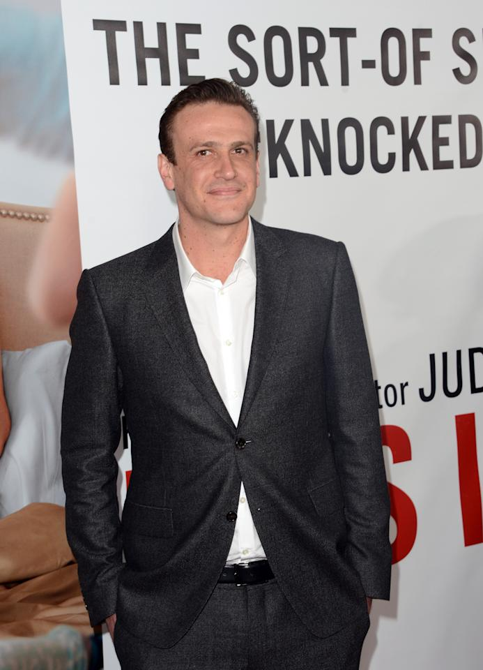 "HOLLYWOOD, CA - DECEMBER 12:  Actor Jason Segel attends the premiere of Universal Pictures' ""This Is 40"" at Grauman's Chinese Theatre on December 12, 2012 in Hollywood, California.  (Photo by Jason Merritt/Getty Images)"