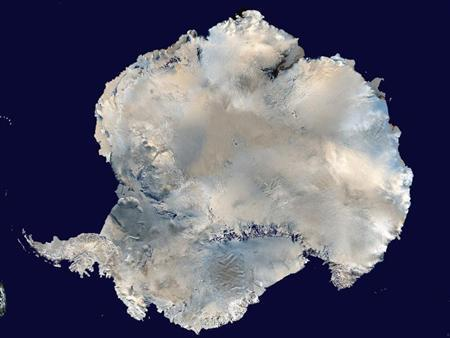Antarctica is pictured in this undated image courtesy of NASA