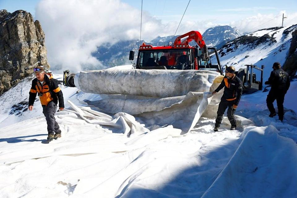 Declining snow cover as a result of climate change poses an existential threat to ski resorts throughout Europe (REUTERS)