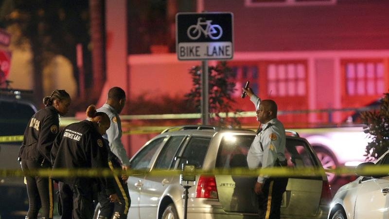 Two killed and six injured as car hits crowd in New Orleans street
