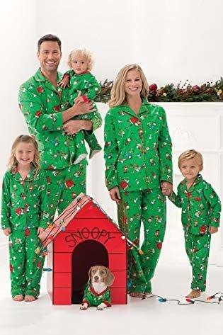 """<p><b>Buy It:</b> from $17.99; <a href=""""https://www.amazon.com/PajamaGram-Charlie-Christmas-Matching-Pajamas/dp/B00SCBTV3G/ref=sr_1_11?ie=UTF8&camp=1789&creative=9325&linkCode=as2&creativeASIN=B00SCBTV3G&tag=southlivin04-20&ascsubtag=d41d8cd98f00b204e9800998ecf8427e"""" target=""""_blank"""">amazon.com</a></p> <p>Have a family night in and represent one of our <a href=""""https://www.southernliving.com/home-garden/holidays-occasions/christmas-movies"""">favorite Christmas movies</a> while you watch it. </p>"""