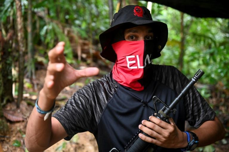 Commander Uriel (pictured on May 25, 2019), one of the main leaders of Colombia's ELN rebels, was accused of being one of the organizers of a 2019 car bomb attack on a police academy in Bogota that killed 21 recruits