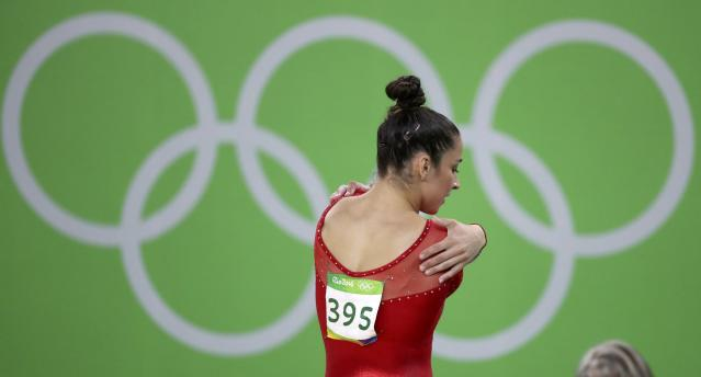 2016 Rio Olympics - Artistic Gymnastics - Final - Women's Individual All-Around Final - Rio Olympic Arena - Rio de Janeiro, Brazil - 11/08/2016. Alexandra Raisman (USA) of the U.S. is pictured. REUTERS/Damir Sagolj FOR EDITORIAL USE ONLY. NOT FOR SALE FOR MARKETING OR ADVERTISING CAMPAIGNS.