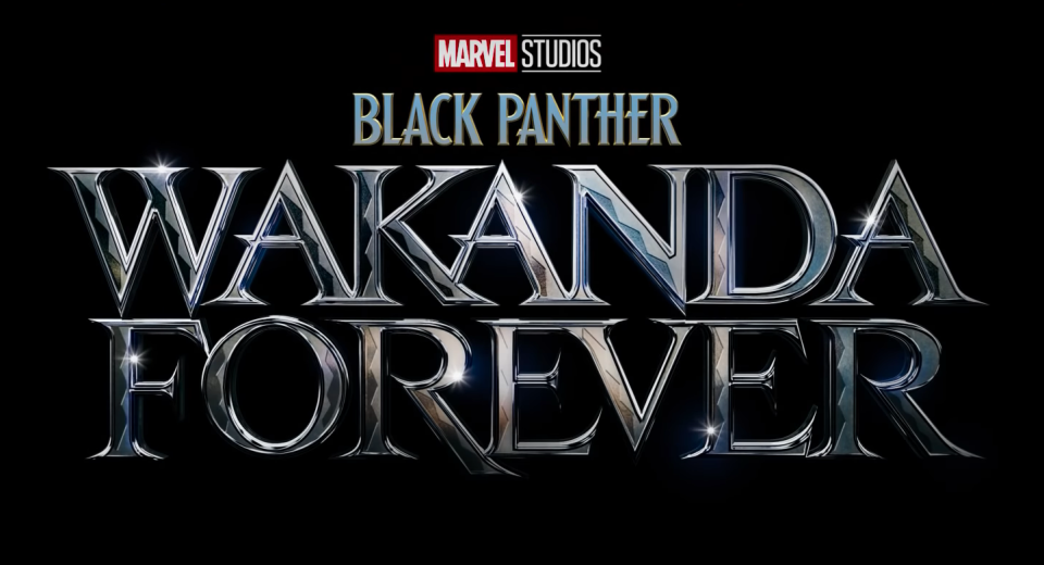 The title treatment for Black Panther: Wakanda Forever (2022)