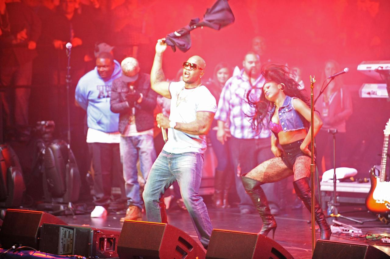 NEW ORLEANS, LA - FEBRUARY 01:  Rapper Flo Rida performs at the Rolling Stone LIVE party held at the Bud Light Hotel on February 1, 2013 in New Orleans, Louisiana.  (Photo by Gustavo Caballero/Getty Images for Rolling Stone)