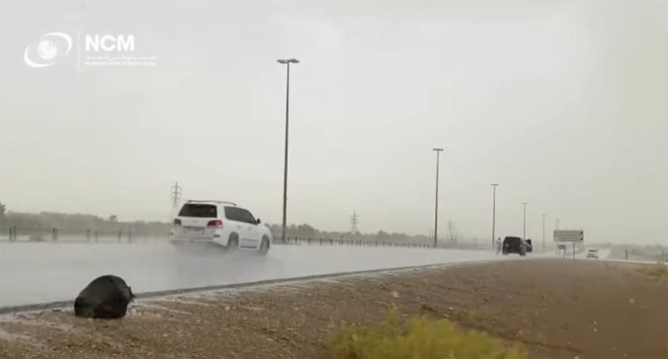 Scientists have been using drones to make it rain in the United Arab Emirates.  Source: National centre of meteorology UAE