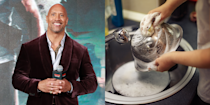 """<p>Though he's now one of the highest-paid actors in Hollywood, the Rock had very humble beginnings. He <a href=""""https://twitter.com/therock/status/664270490933051392?lang=en"""" rel=""""nofollow noopener"""" target=""""_blank"""" data-ylk=""""slk:tweeted"""" class=""""link rapid-noclick-resp"""">tweeted</a> that his first job was working as a dish washer at age 13, from 3 to 11:30 p.m. </p>"""