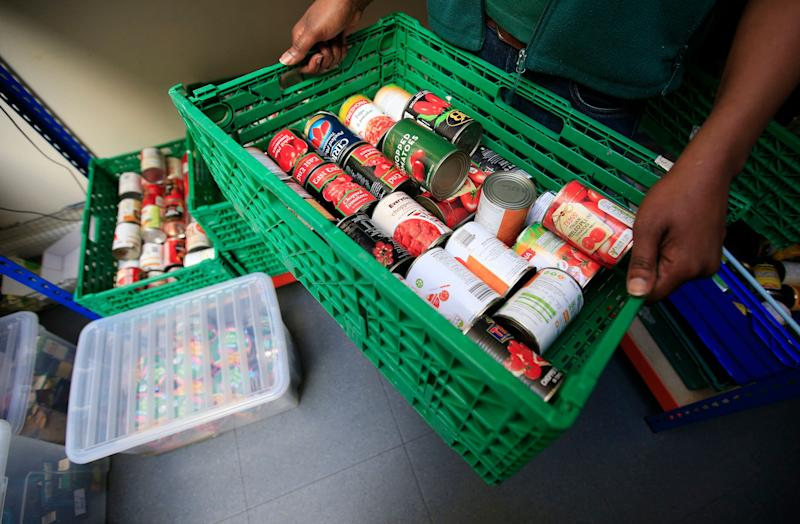 Food being sorted at a food bank (Photo: PA Wire/PA Images)