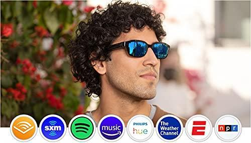 Echo Frames (2nd Gen) | Smart audio sunglasses with Alexa | Classic Black with new polarized bl…