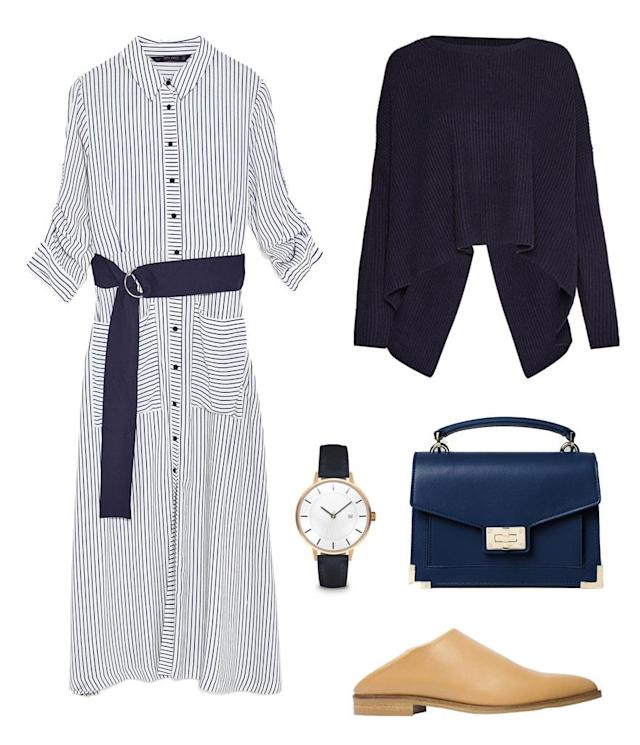 <p>Airy, billowy dresses make the perfect summer garment. They are lightweight, breathable, and extremely comfortable. Tie a loose crewneck sweater around your waist, and you can slip it on when it gets chilly in the office. Opt for one that has an open back so you don't feel too constricted. </p>