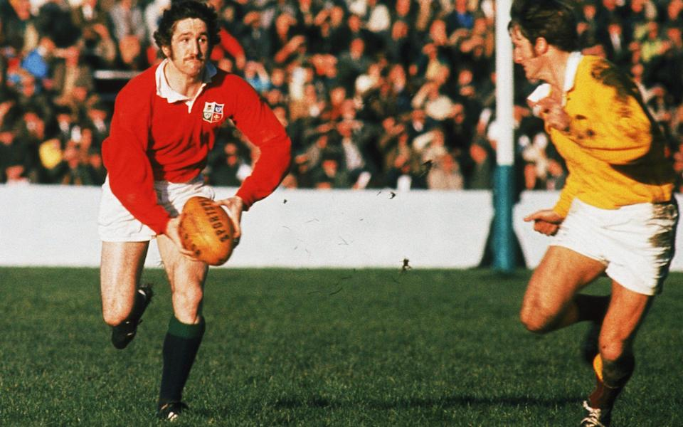 Gerald Davies in action for the Lions in New Zealand in 1971 - GETTY IMAGES