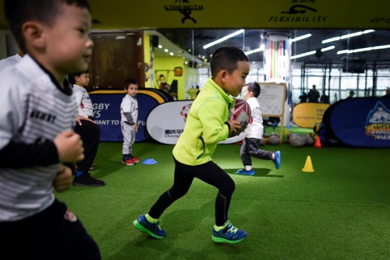 Rugby programmes for children are few and far between in China