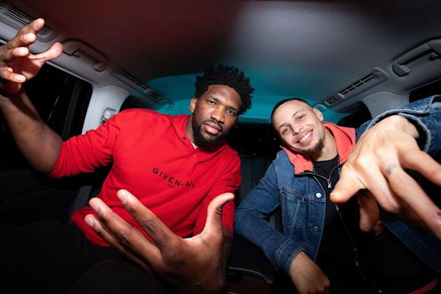 Joel Embiid was kind enough to grace Steph Curry with at least five minutes of his time when the Sixers traveled out to the Bay Area for their game against the Golden State Warriors back in January.