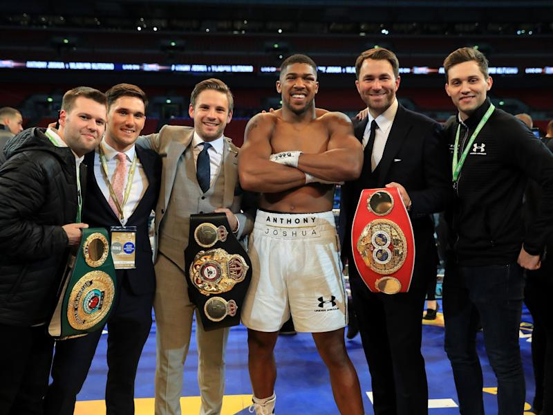 Anthony Joshua's next opponent will not be Tyson Fury, insists Eddie Hearn