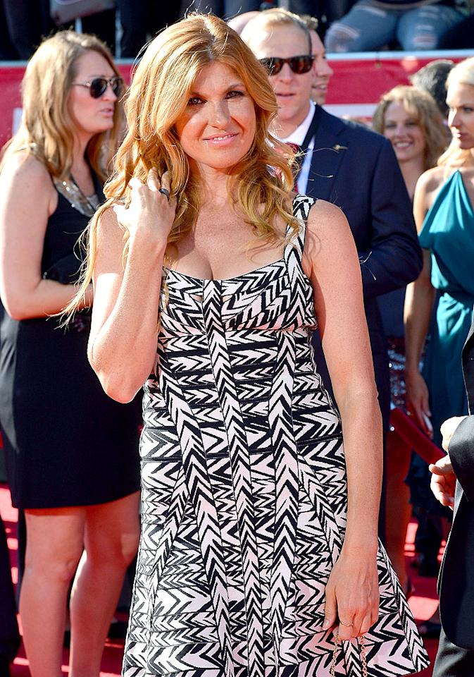 "Actress Connie Britton (""Friday Night Lights,"" ""American Horror Story"") arrives at the 2012 ESPY Awards."