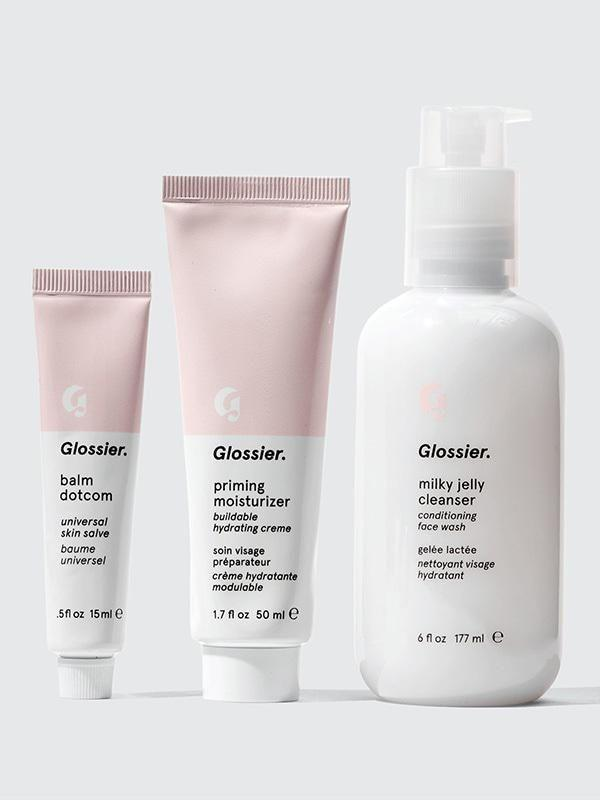 """<p><strong>Glossier</strong></p><p>glossier.com</p><p><strong>$9.60</strong></p><p><a href=""""https://go.redirectingat.com?id=74968X1596630&url=https%3A%2F%2Fwww.glossier.com%2Fproducts%2Fthe-skincare-set&sref=https%3A%2F%2Fwww.seventeen.com%2Fbeauty%2Fmakeup-skincare%2Fadvice%2Fg2056%2Fbeauty-gifts%2F"""" rel=""""nofollow noopener"""" target=""""_blank"""" data-ylk=""""slk:SHOP NOW"""" class=""""link rapid-noclick-resp"""">SHOP NOW</a></p><p>Stay fully glossed with Glossier's skin essentials — they'll keep your skin dewy all day long.</p>"""
