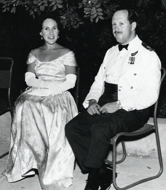 Joy Andrew married husband David Andrew, a Squadron Leader in the RAF, in the 1950s. (SWNS)