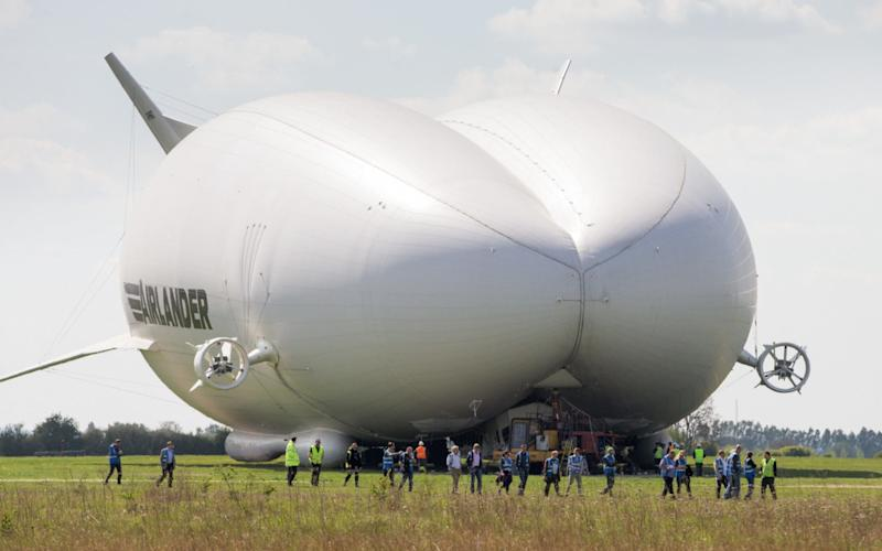 Airlander 10 at Cardington, Bedfordshire, on Wednesday - Credit:  GEOFF ROBINSON PHOTOGRAPHY