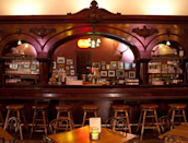 """<p>Established in 1877, this <a href=""""https://go.redirectingat.com?id=74968X1596630&url=https%3A%2F%2Fwww.tripadvisor.com%2FRestaurant_Review-g31323-d4107799-Reviews-The_Palace-Prescott_Arizona.html&sref=https%3A%2F%2Fwww.redbookmag.com%2Ffood-recipes%2Fg34142495%2Foldest-restaurants-america%2F"""" rel=""""nofollow noopener"""" target=""""_blank"""" data-ylk=""""slk:Prescott, AZ, restaurant"""" class=""""link rapid-noclick-resp"""">Prescott, AZ, restaurant</a> first served as a central gathering (and drinking) spot for old Western figures like Wyatt Earp and Doc Holliday. It's since been restored to reflect the decor it boasted following a complete post-fire renovation in 1901.</p>"""