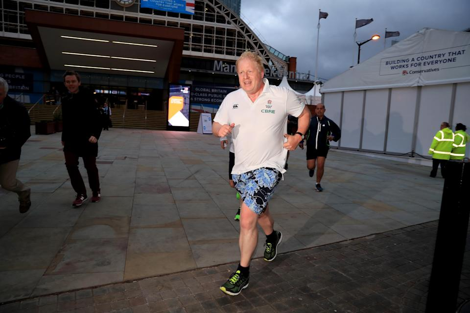 Boris Johnson, pictured here in 2017, has been running more in an effort to lose weight. (PA)
