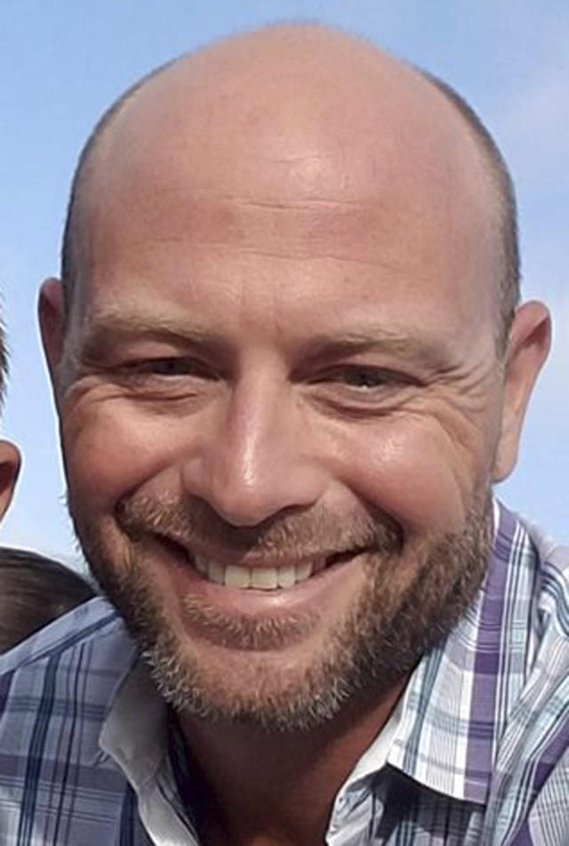 <p>This undated photo shows Brian Fraser, one of the people killed in Las Vegas after a gunman opened fire on Sunday, Oct. 1, 2017, at a country music festival. (Facebook via AP) </p>