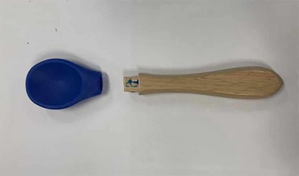 A Weet-Bix Little Kids Essentials Bowl Giveaway spoon is pictured.