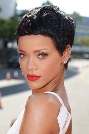 """<div class=""""caption-credit""""> Photo by: Ian Gavan/Getty Images Entertainment</div><div class=""""caption-title"""">Rihanna's Pixie</div>Proving that short can be tough and sexy, the singer's geometric crop has a square shape that balances an oval face. <br> <br> <p>  <b>Read more:</b> </p> <p>  <b><a rel=""""nofollow"""" href=""""http://www.harpersbazaar.com/beauty/makeup-articles/best-waterproof-mascaras?link=rel&dom=yah_life&src=syn&con=blog_blog_hbz&mag=har"""" target="""""""">Waterproof Mascaras That Never Smudge</a></b> </p> <p>  <b><a rel=""""nofollow"""" href=""""http://www.harpersbazaar.com/beauty/hair-articles/celebrity-haircuts-every-age-0610?link=rel&dom=yah_life&src=syn&con=blog_blog_hbz&mag=har"""" target="""""""">The Best Haircuts for Every Age</a></b> </p> <br>"""