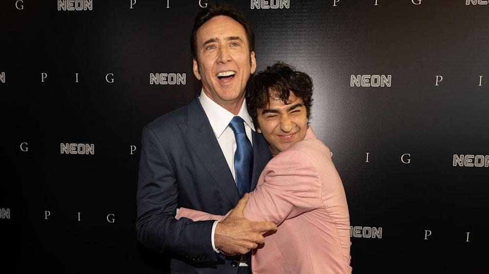 Nicolas Cage and Alex Wolff