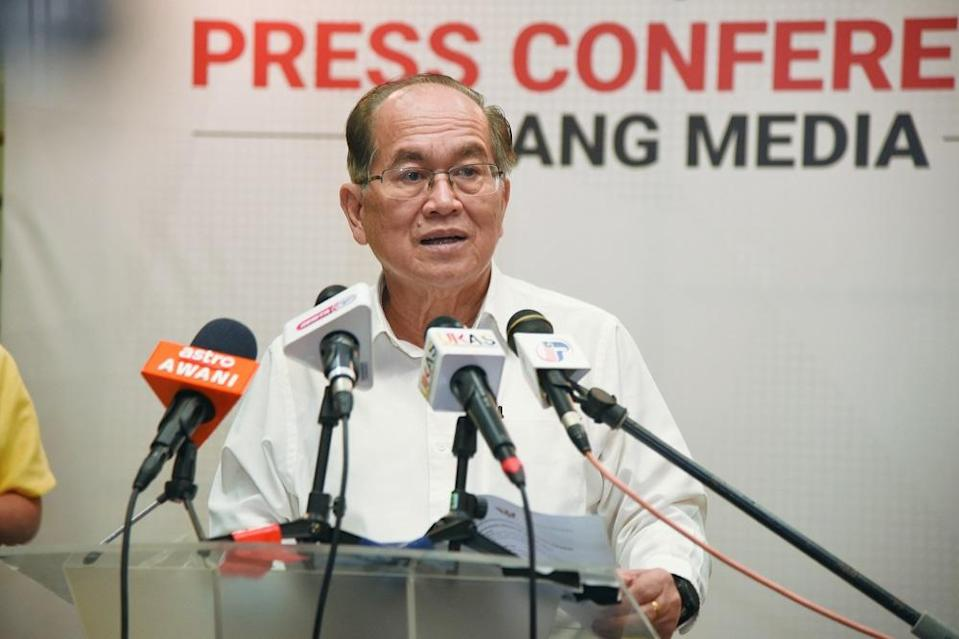 Deputy Chief Minister Datuk Amar Douglas Uggah said Sarawakians can now register for their free Covid-19 vaccinations. ― Picture courtesy of Sarawak Information Department