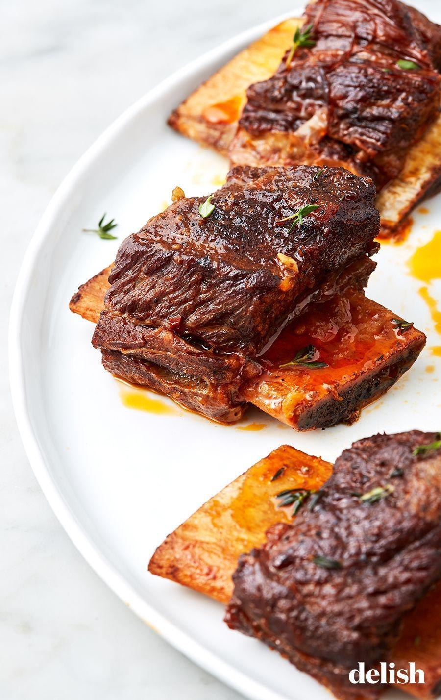 """<p>This Instant Pot recipe takes HALF the time most braised ribs recipes call for. </p><p>Get the recipe from <a href=""""https://www.delish.com/cooking/recipe-ideas/a27185995/instant-pot-short-ribs-recipe/"""" rel=""""nofollow noopener"""" target=""""_blank"""" data-ylk=""""slk:Delish"""" class=""""link rapid-noclick-resp"""">Delish</a>.</p>"""