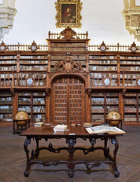 The library at the University of Salamanca was constructed in the 16th century.