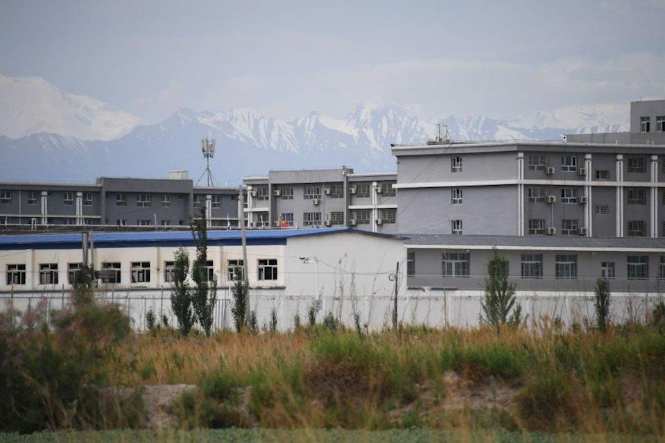 This photo taken on June 4, 2019 shows a facility believed to be a re-education camp where mostly Muslim ethnic minorities are detained, north of Akto in China`s northwestern Xinjiang region.