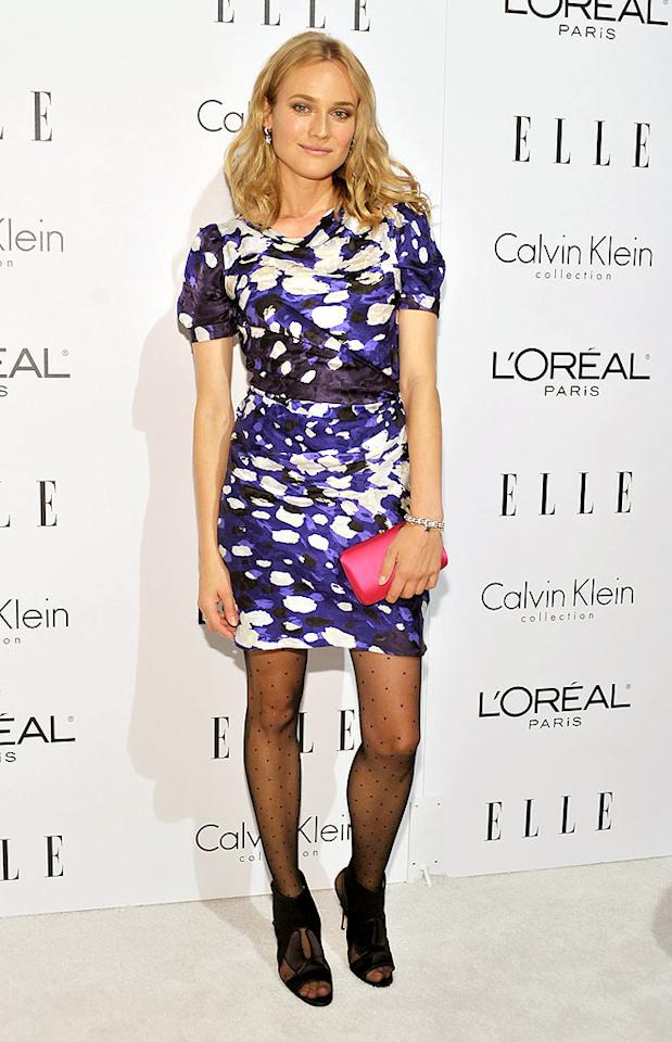 "We absolutely adore Diane Kruger, but we also happen to abhor polka dot tights paired with open-toed shoes. Stefanie Keenan/<a href=""http://www.wireimage.com"" target=""new"">WireImage.com</a> - October 19, 2009"