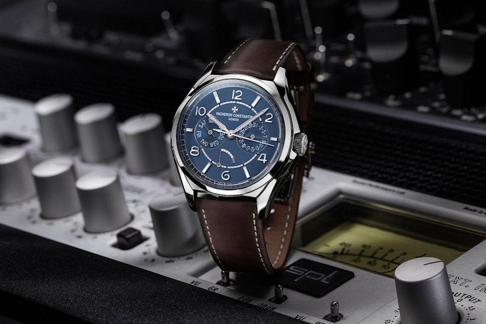"""<p> FiftySix Day Date Limited Edition</p><p><a class=""""link rapid-noclick-resp"""" href=""""https://go.redirectingat.com?id=127X1599956&url=https%3A%2F%2Fwww.mrporter.com%2Fen-gb%2Fmens%2Fproduct%2Fvacheron-constantin%2Fluxury-watches%2Fdress-watches%2Ffiftysix-day-date-limited-edition-automatic-40mm-stainless-steel-and-leather-watch-ref-no-4400e000a-b943%2F4394988609246217&sref=https%3A%2F%2Fwww.menshealth.com%2Fuk%2Fstyle%2Fwatches%2Fg35332587%2Fbest-mens-watche1%2F"""" rel=""""nofollow noopener"""" target=""""_blank"""" data-ylk=""""slk:SHOP"""">SHOP</a></p><p>The 265-year-old luxury watchmaker now comes with 21st Century hashtags – their latest is the grammatically questionable #OneOfNotMany. At least it's apt. With prices starting in the tens of thousands Vacheron is not in the business of mass production: its newest model is a numbered limited edition of 30. The stainless steel case/ petrol blue dial/ brown calfskin strap combination is lovely; the sapphire caseback shows off Swiss watchmaking at its unimprovable best. Exclusive to online fashion retailer Mr Porter, another gentle concession to the times.</p><p> £15,900; <a href=""""https://www.mrporter.com/en-gb/mens/product/vacheron-constantin/luxury-watches/dress-watches/fiftysix-day-date-limited-edition-automatic-40mm-stainless-steel-and-leather-watch-ref-no-4400e000a-b943/4394988609246217"""" rel=""""nofollow noopener"""" target=""""_blank"""" data-ylk=""""slk:mrporter.com"""" class=""""link rapid-noclick-resp"""">mrporter.com</a> </p>"""